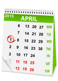 Icon calendar for April 1 Royalty Free Stock Images