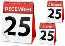 Icon calendar Christmas Stock Photos