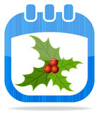Icon calendar Christmas 2 Royalty Free Stock Image
