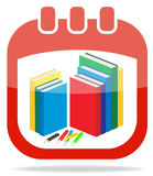 Icon calendar days of knowledge Royalty Free Stock Photo