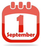 Icon calendar days of knowledge Royalty Free Stock Images