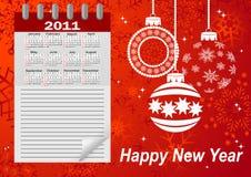 Icon Calendar For Year 2011. Vector. Stock Photo