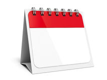 Icon calendar spiral #4. Blank paper calendar icon with spiral, three-dimensional rendering, 3D illustration stock illustration