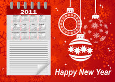 Icon calendar for year 2011. vector. Icon calendar for year 2011. american style (Week starts on Sunday). vector Stock Photo