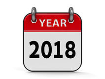 Icon calendar 2018 year Stock Images