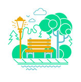 Icon of a calm park Stock Photography