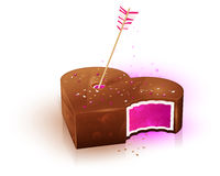 Icon candy hearts to Valentine's Day. Icon of chocolate candy hearts to Valentine's Day Royalty Free Stock Images