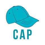 Icon cap. Vector  image of the headdress. Royalty Free Stock Images