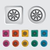 Icon Car drive. Icon Car drive disk. Vector illustration Stock Image