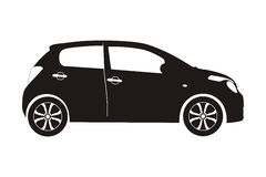 Icon car hatchback Stock Images