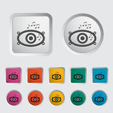 Icon of car speakers. Vector illustration Royalty Free Stock Photo