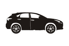 Icon car suv. Black on the white background vector illustration