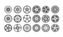 Icon car wheel silhouette Royalty Free Stock Photo