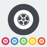 Icon car wheel. Royalty Free Stock Image