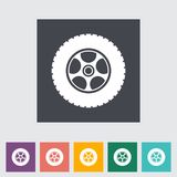 Icon car wheel. Stock Photos