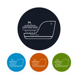 Icon  cargo ship, vector illustration Stock Photo