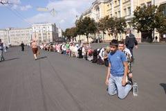 Icon caring procession Stock Image