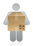 Icon carrying a box Royalty Free Stock Images