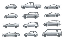 Icon cars. On a white background Stock Photo