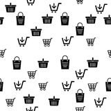 Icon  Cart and basket pattern background Royalty Free Stock Photos