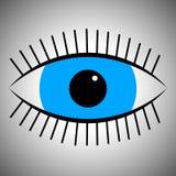 Fun icon cartoon blue eye vector illustration