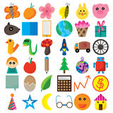 Icon Cartoon Cute. Illustration icons cartoon cute set white background. --- This .eps file info Version: Illustrator 8 EPS Document: 10 * 10 Inches (Width * Vector Illustration