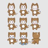 Icon cat. A set of cat character icons, in eps file Royalty Free Stock Images