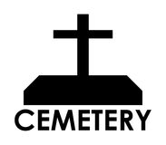 Icon cemetery illustrated Royalty Free Stock Image