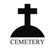 Icon cemetery illustrated Royalty Free Stock Photography