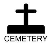 Icon cemetery illustrated Stock Photo