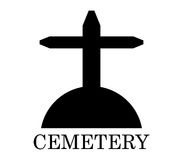 Icon cemetery illustrated Stock Image