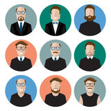 Icon characters Stock Photography