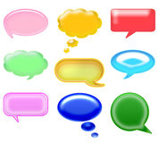 Icon chat. Set differents glossy icons. speech and thought bubbles on a white background. ideal for chat and website Royalty Free Stock Images