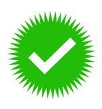 Icon of check box stock photos