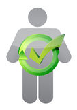 Icon and check mark. illustration design. Over a white background Royalty Free Stock Photography