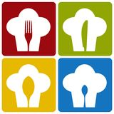 Icon chef restaurant set pattern. Royalty Free Stock Images