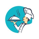 Icon with chef Royalty Free Stock Image