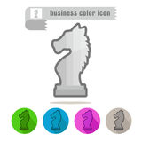 Icon chess Business color success doing work on white background. Icon set chess Business color success doing work on white background royalty free illustration