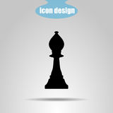 Icon chess piece on a gray background. Vector illustration. Bishop vector illustration