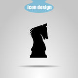 Icon chess piece on a gray background. Vector illustration. Knight stock illustration