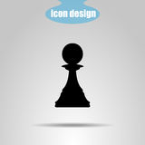 Icon chess piece on a gray background. Vector illustration. Pawn vector illustration
