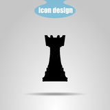 Icon chess piece on a gray background. Vector illustration. Rook Stock Photo
