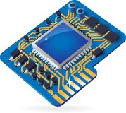 Icon of chipset Royalty Free Stock Photos