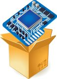 Icon of chipset in box Stock Photo