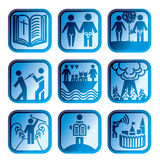 Icon christian bible jesus Royalty Free Stock Images