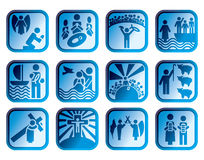 Icon christian bible Royalty Free Stock Photography