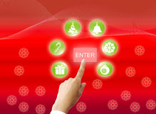 Icon christmas Royalty Free Stock Photo
