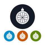 Icon of a Christmas Ball Royalty Free Stock Photo