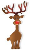 Icon Christmas Deer Royalty Free Stock Photo