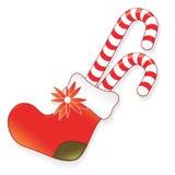 Icon christmas sock Stock Photography